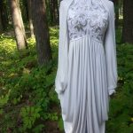 Beaded Grecian Scroll Gown with Bolero Front View