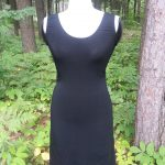 Black Beauty Jersey Dress Front View