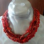 Coral Flame Ribbon Necklace Resize
