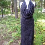 Hollywood Glam Cowl Dress Front View