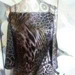 Midnight Leopard Bling Top Front View