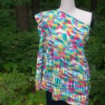 Rainbow One Shoulder Tunic Full Front View