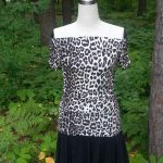 Ruched Leopard Jersey Full Front View