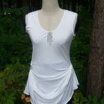 White Bling Tunic Front View